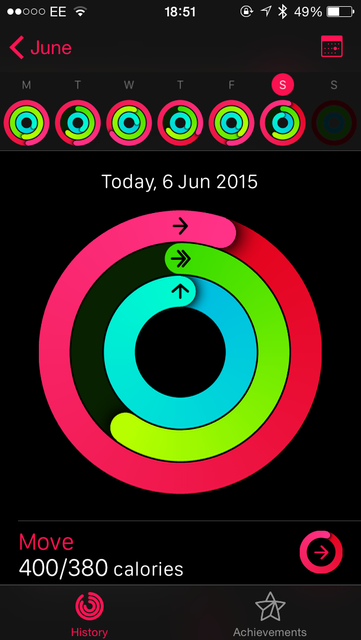 iPhone: Activity App - Day view