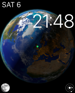Apple Watch: Astronomy watch face